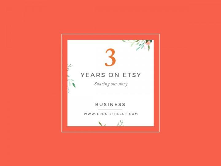 Celebrating 3 years on Etsy