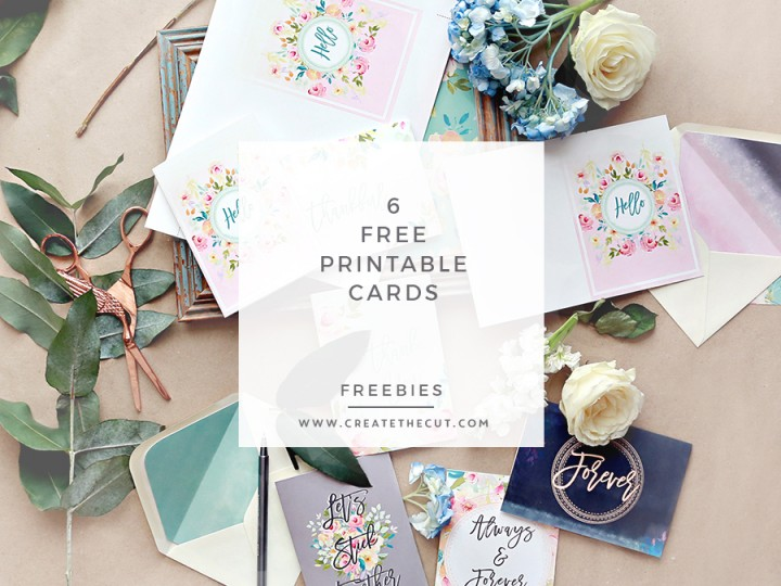 6 Free Printable Greeting Cards