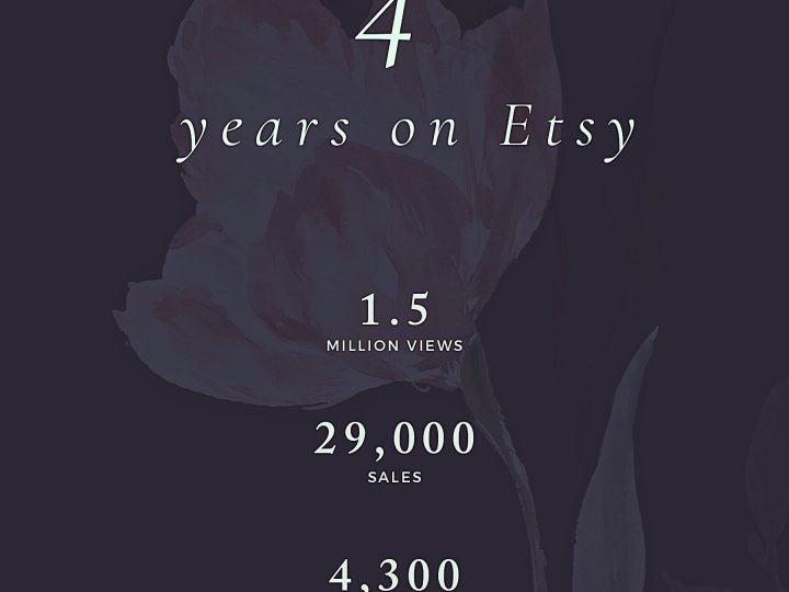 4 Years on Etsy